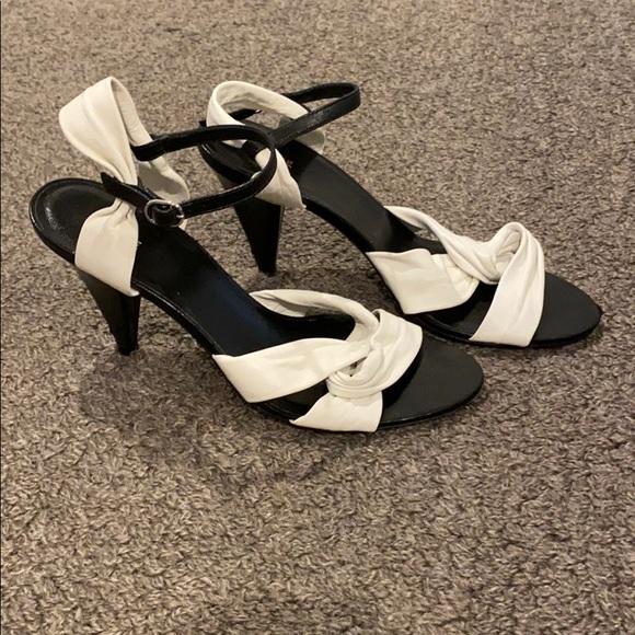Celine triangle twist open toe sandal